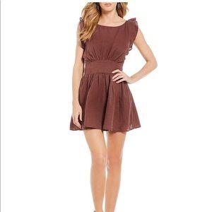 Free People Erin Ruffle Mini Dress BNWT